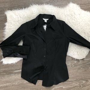 White House Black Market new black shirt size 10